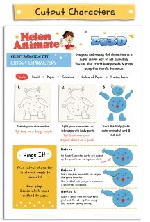 Cutout Characters sheet